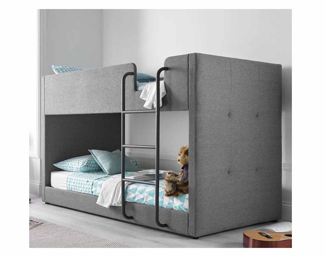Picture of: Gwars Grey Fabric Bunk Bed For Bedroom Buy Home Furniture Online Furniture Shops Store Online Shopping In India