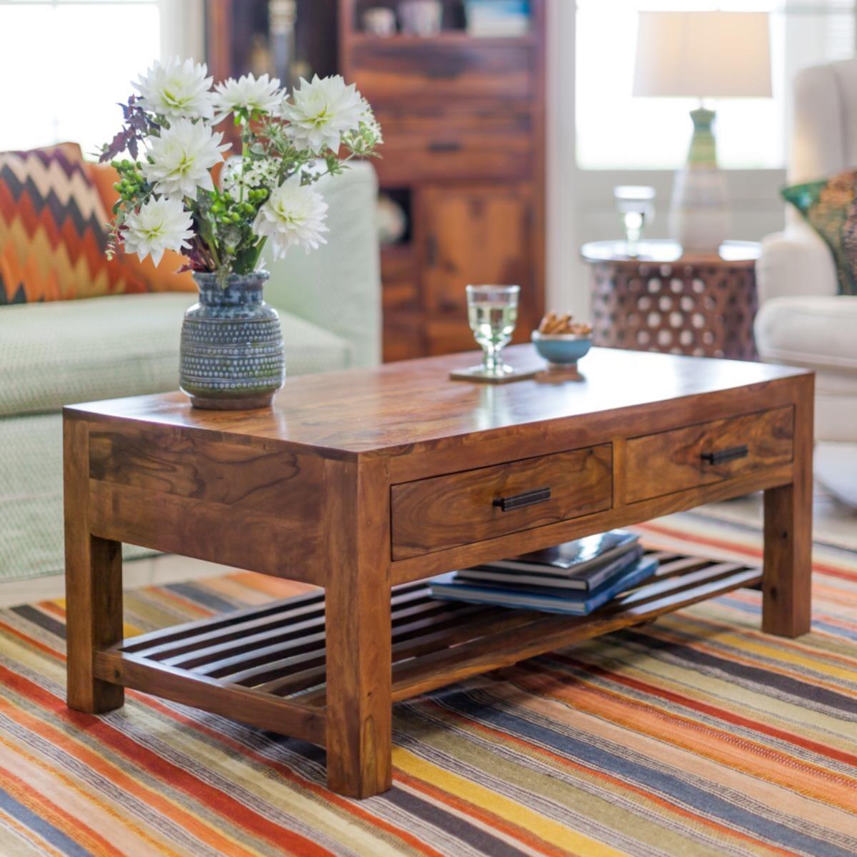 Palmar Coffee Table-Teak | Buy Home Furniture Online ...